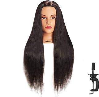 "Hairingrid 26""-28"" Mannequin Head Hair Styling Training Head Manikin Cosmetology Doll Head Synthetic Fiber Hair and Free C..."