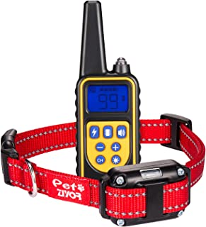 Dog Training Collar Shock Collar, Ziyor 100% Waterproof and Rechargeable 850 yd Remote Dog Training Collar with Beep, Vibra and No Harm Shock Electric Collar for Small Medium Large Dogs