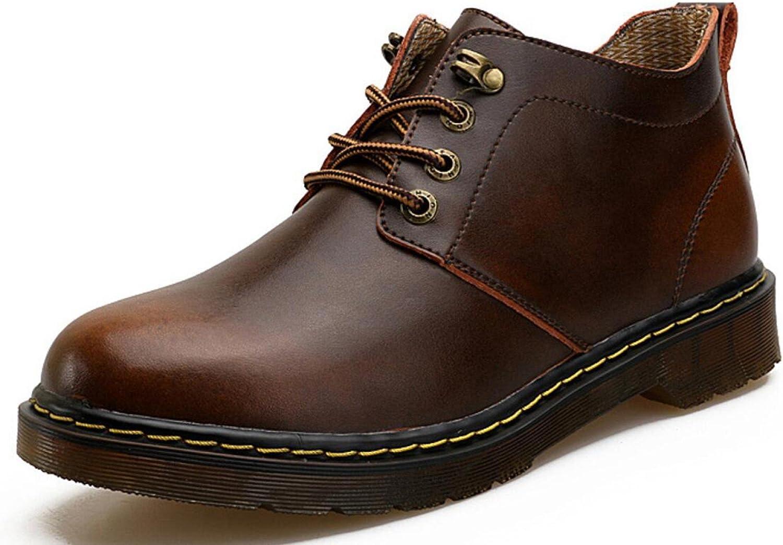 Men's Martin Genuine Leather shoes Vintage Boots Road Nordic Footwear Trekking Running