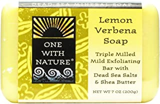 One With Nature Dead Sea Lemon Verbena Bar Soap, 7 Ounce - 2 per case.