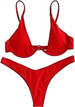 Verdusa Women's Sexy Triangle Bathing Two Pieces Swimsuit Bikini Set