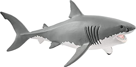 Schleich Great White Shark Toy Figure, Grey