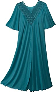 Shadowline Women's Plus-Size Beloved 41 Inch Flutter Sleeve Waltz Robe