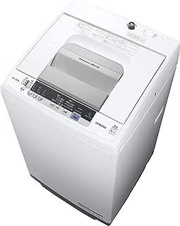 日立 全自動洗濯機 白い約束 洗濯容量7kg 本体幅53cm シャワー浸透洗浄 風脱水 ピュアホワイト NW-R704 W
