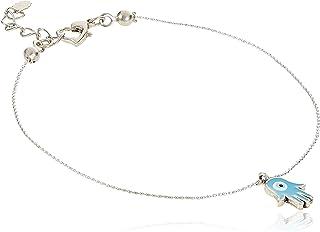 Alwan Medium Size Anklet for Women, Turquoise - EE3655HSTM