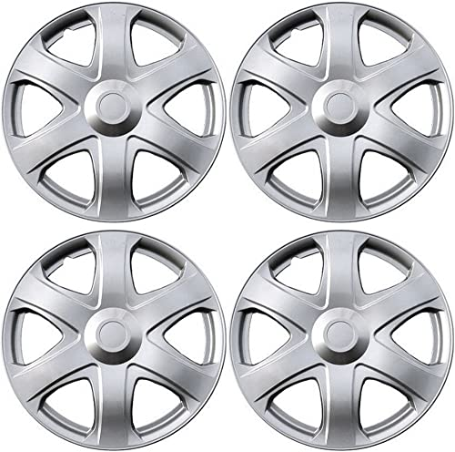 2021 16 inch Hubcaps Best for 2009-2010 Toyota Matrix - (Set of 4) Wheel Covers 16in Hub Caps Silver discount Rim Cover - Car Accessories for 16 inch Wheels - Snap On Hubcap, Auto Tire Replacement online Exterior Cap online