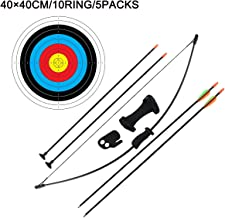 Dostyle Outdoor Youth Recurve Bow and Arrow Set Children Junior Archery Training Toy for Kid Teams Game Gift (16LB,4Arrows,5Target Faces)