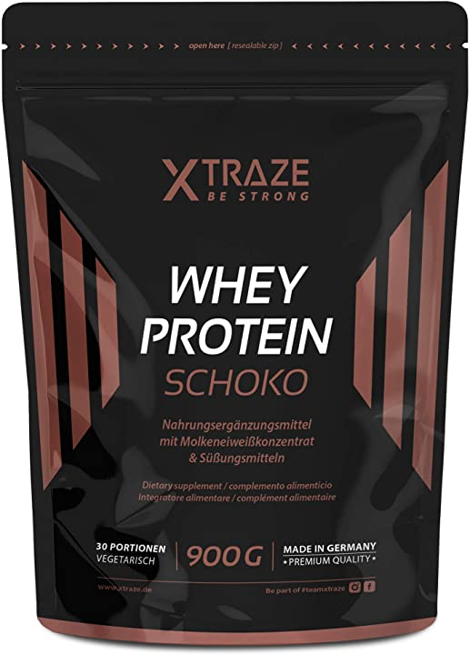 Proteina di siero di latte in polvere per frullati proteici – 900g concentrato + isolato con bcaa xtraze
