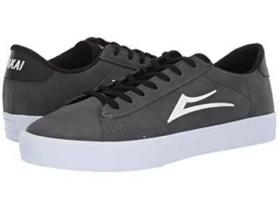 Lakai Newport (Charcoal Synthetic Nubuck) Men