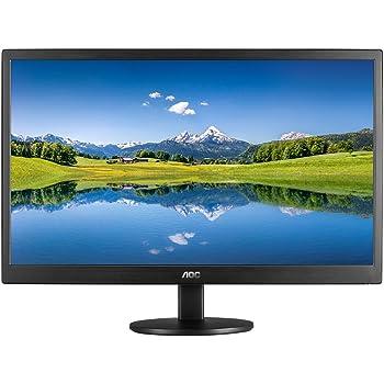 """AOC E2070SWHN Monitor LED de 19.5"""", Resolución 1600x900, Brillo 200CD/M2, Soporte VESA, Conexión HDMI/VGA, Negro Mate"""