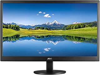"AOC E2070SWHN Monitor LED de 19.5"", Resolución 1600x900, Brillo 200CD/M2, Soporte VESA, Conexión HDMI/VGA, Negro Mate"