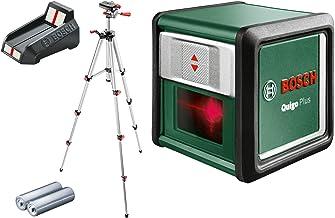 Bosch 603663600 Self-Levelling Cross Line Laser Set Quigo Plus Tripod (2 x AAA Batteries Included in Box)
