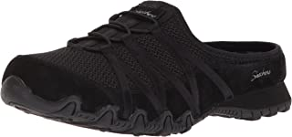 Skechers Women's Bikers-Fan Club-Sporty Slip-on Mesh-Bungee Mule, Relaxed FitTM