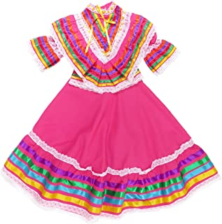 Mexican Clothing Co Little Girls Mexican Jalisco Dress (Blouse and Skirt) Poplin