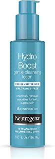 Neutrogena Hydro Boost Gentle Cleansing and Hydrating Face Lotion and Makeup Remover, Oil-Free for Sensitive Skin, 5.0 Fluid Ounce (Pack of 3)