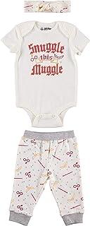 Harry Potter Ensemble body et bandeau pour bébé fille Blanc 0-3 mois