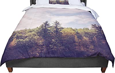 104 x 88, Kess InHouse Suzanne Harford Misty Forest Stream Nature PhotographyKing Cotton Duvet Cover
