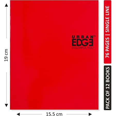 Urban Edge Short Notebook 76 pages - Single Line (Pack of 12)