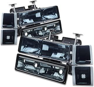 For Chevy C10 C/K-Series GMT400 Facelifted 8-PC Smoke Lens Headlight+Bumper+Corner Lights Kit