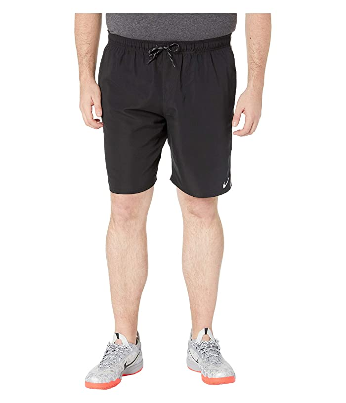 Nike Big Tall 9 Perforated Diverge Volley Shorts (Black) Men