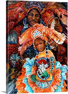 GREATBIGCANVAS Gallery-Wrapped Canvas Mardi Gras Indians by Diane Millsap 26