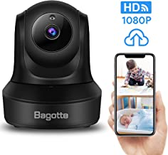 Bagotte Full HD 1080P WiFi Home Security Camera, Wireless IP Indoor Surveillance System Pan/Tilt/Zoom Audio Camera, Night Vision, Motion Detection, Remote Baby Monitor iOS - Cloud Storage
