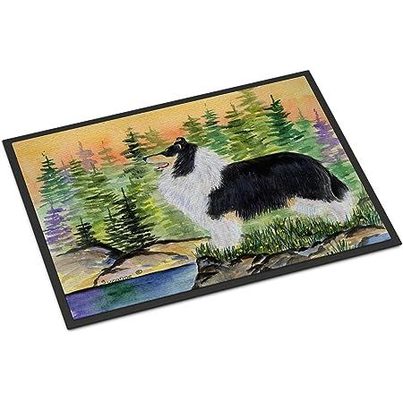 Carolines Treasures Sheltie Spring Doormat 24 x 36 Multicolor