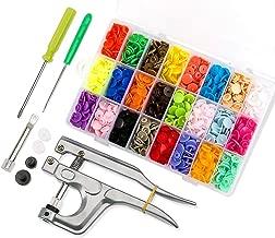 460 PCS Boutons Pression Plastique avec Kit de Pince pour T3 T5 T8 en 24 Couleurs pour DIY Artisanat