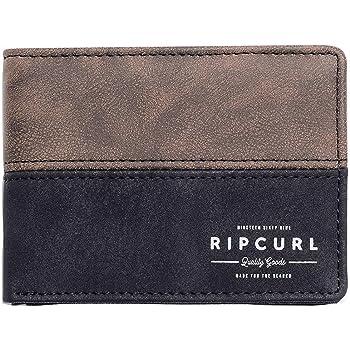 Marr/ón Rip Curl Stitch Clip PU Slim Monedero 10 cm
