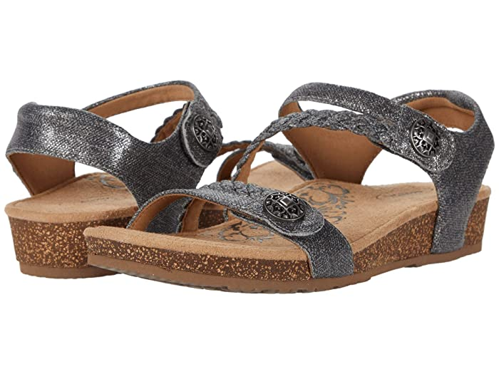 Aetrex  Jillian Quarter Strap (Pewter) Womens Sandals