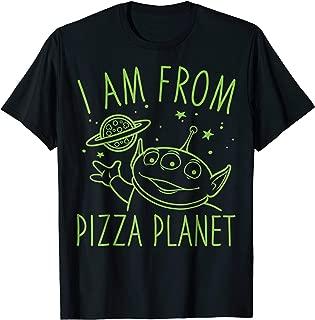 Disney Pixar Toy Story Neon Green Alien Pizza Planet T-Shirt