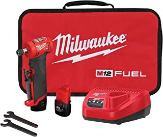 Milwaukee 2485-22 M12 FUEL Right Angle Die Grinder with 2 Battery and Charger Kit