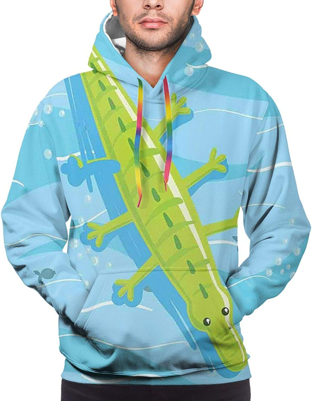 TENJONE Men's Hoodies Sweatshirts,Beach Theme Design Shells Starfishes Flip Flops Glasses Summer Holiday Image
