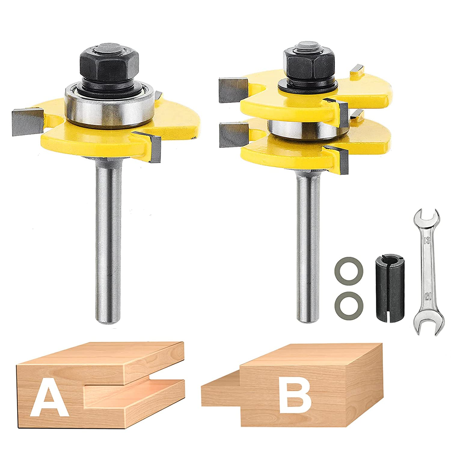 2PCS 1 Special price 4 inch Shank Tongue and Set Router Bit Fixed price for sale Groove Milli Wood