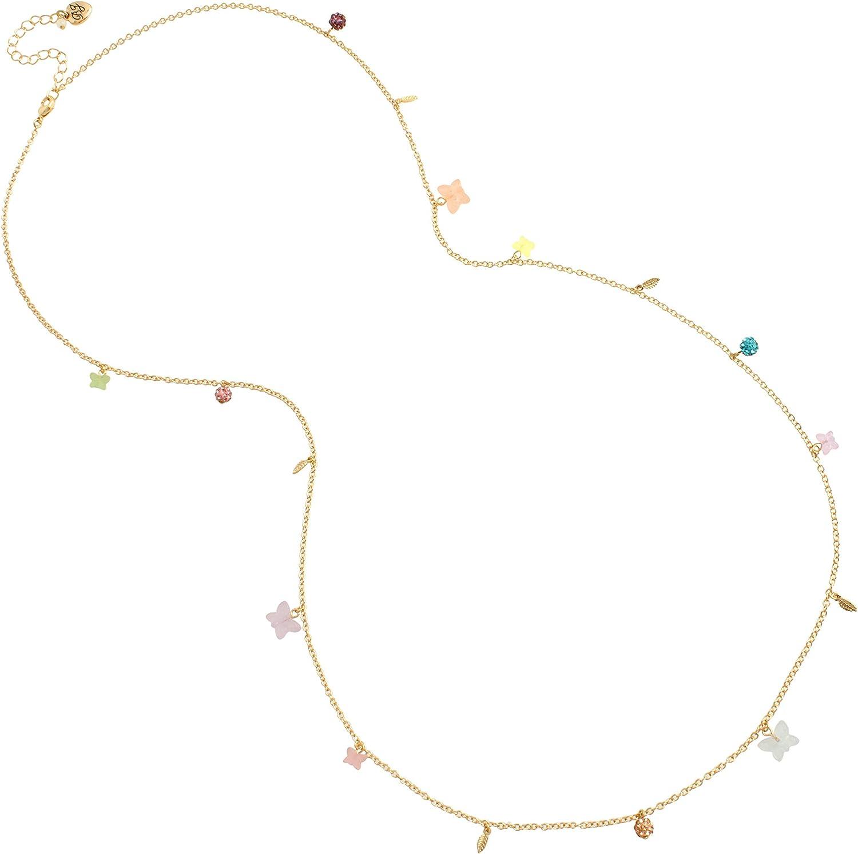 Betsey Johnson Gummy Butterfly Long Station Necklace