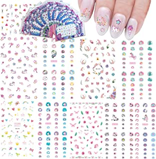 Nail Art Stickers for Kids Nail Decals Accessories Unicorn Water Transfers Butterfly Star..