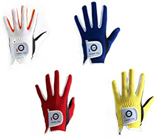 FINGER TEN 2018 Junior Kids Youth Toddler Boys Girls Dura Feel White Blue Red Yellow Left Hand Right Hand Golf Gloves Extra Value 2 Pack (Age 2-10 Years Old)