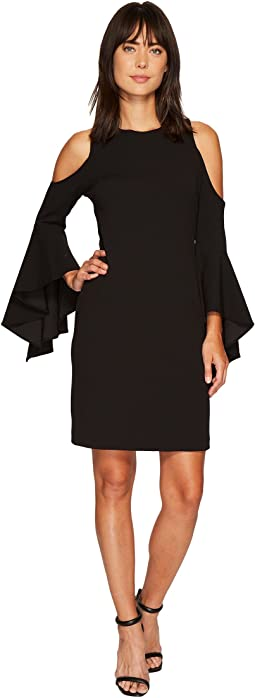 Vince Camuto - Handkerchief Sleeve Cold Shoulder Dress