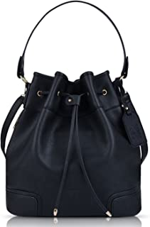 Coofit Drawstring Handbag Bucket Bag Leather Crossbody Bag Original Design Shoulder Bag Handbag for women