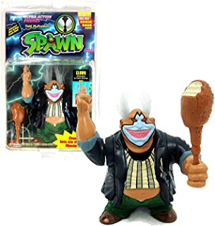 Todd McFarlane's Toys Year 1994 Spawn Series Poseable 5 Inch Tall Action Figure - CLOWN (Shown in Violator Monster Head) with Changeable Head , Turkey Leg Club and Special Edition Comic Book