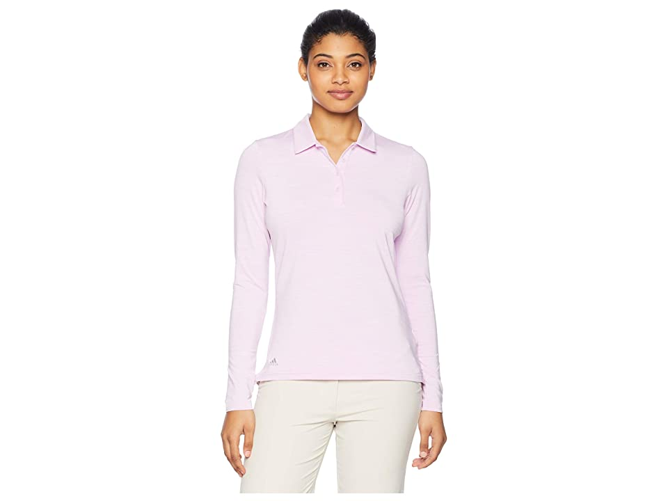 adidas Golf Ultimate Long Sleeve Polo (Clear Lilac Heather) Women's Long Sleeve Pullover