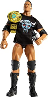WWE The Rock Ultimate Edition Multiple-Pose 6-inch Action Figure with Entrance Gear, Extra Heads & Swappable Hands