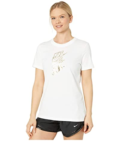 Nike NSW Tee Statement Shine (White/Metallic Gold) Women