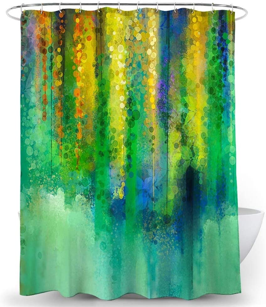 Stylish and Water Repellent Shower Floral Gorgeous Washington Mall Liner Cu shower Color