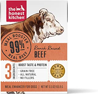 The Honest Kitchen Human Grade Grain Free Meal Booster: 99% Beef (12 pack), 5.5 oz