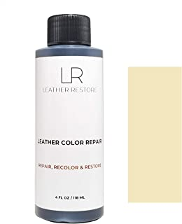 Leather Restore Leather Color Repair, Beige 4 OZ - Repair, Recolor and Restore Couch, Furniture, Auto Interior, Car Seats, Vinyl and Shoes