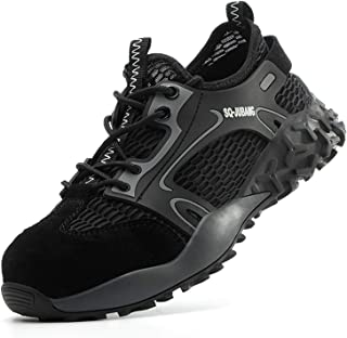 R-Win Chaussures de sécurité pour homme et femme avec embout en acier - Chaussures de travail légères et confortables - Ch...