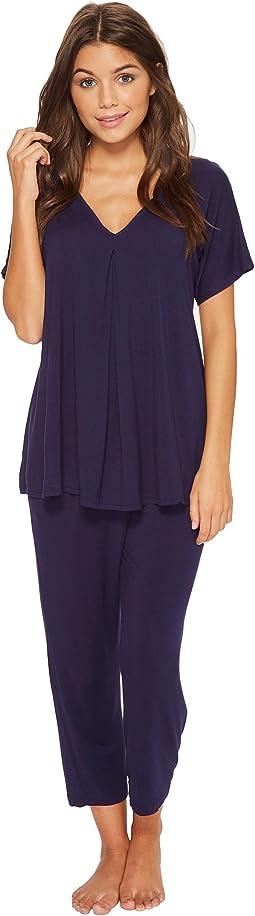 Donna Karan - Modal Spandex Jersey Capris Pajama Set