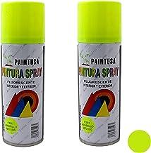 Paintusa - Pack de 2 botes de pintura en spray Amarillo fluorescente F201 200 ml