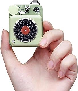 Muzen Button Portable Wireless High Definition Audio Bluetooth Speaker, Classic Vintage Retro Design, Green